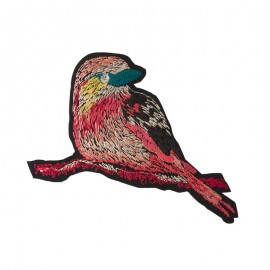 Lurex Goldfinch Iron-On Patch - Pink