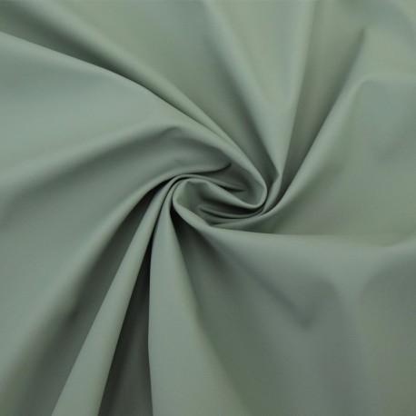 Tissu enduit spécial ciré uni - vert kaki x 10cm
