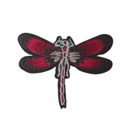 Allegra Dragonfly Iron-On Patch - Burgundy