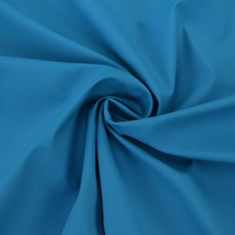 Tissu enduit spécial ciré uni - bleu x 10cm