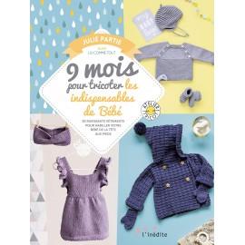 """Book """"9 mois pour tricoter les indispensables de bébé"""""""
