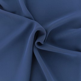 Crepe Muslin Fabric - Navy blue x 50cm
