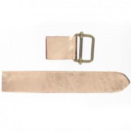 Patte cuir avec coulissant métallisé cuivre