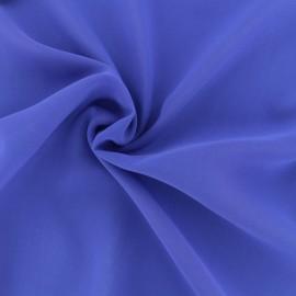 Tissu mousseline crêpe - bleu Royal x 50cm