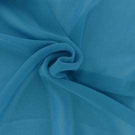 Crepe Muslin Fabric - Turquoise blue x 50cm