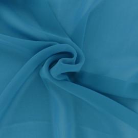 Tissu mousseline crêpe - bleu Turquoise x 50cm