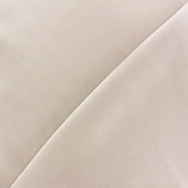 Tissu crêpe envers satin grège clair x 10cm