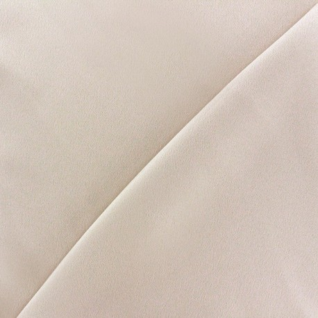 Crepe with satin reverse side Fabric - light beige x 10cm