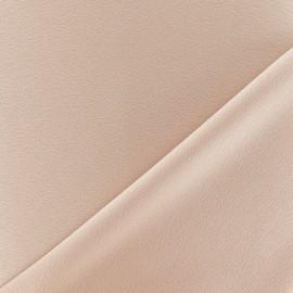 Tissu crêpe envers satin beige x 10cm