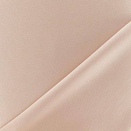 Tissu crèpe envers satin beige x 10cm