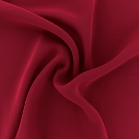 Tissu mousseline crêpe - Rouge rubis x 50cm