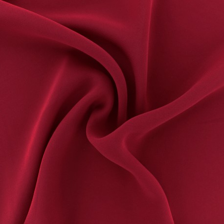 Crepe Muslin Fabric - Passion red x 50cm