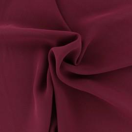 Tissu mousseline crêpe - Bordeaux x 50cm