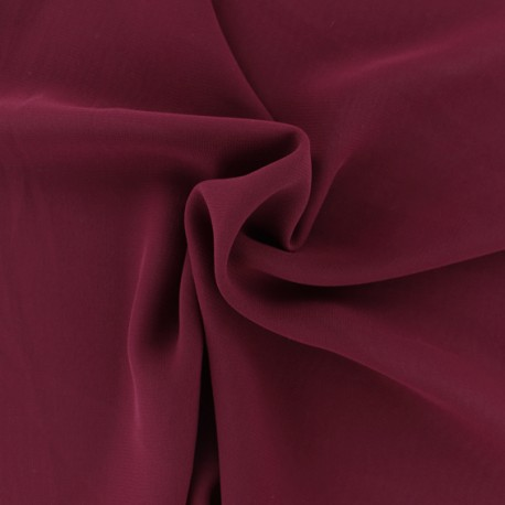 Crepe Muslin Fabric - Burgundy x 50cm