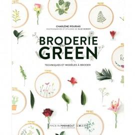 """Livre """"Broderie Green - Techniques et modèles à poser"""""""