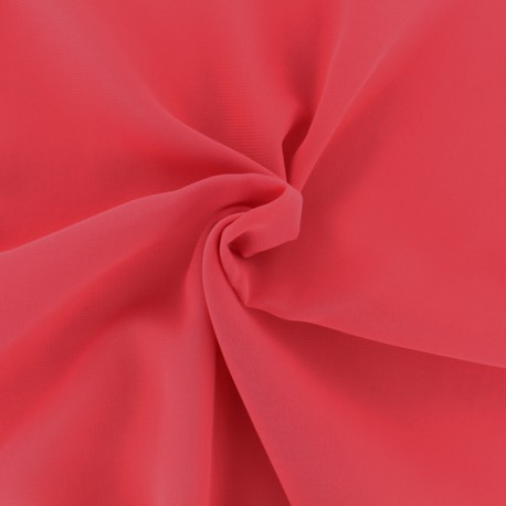 Crepe Muslin Fabric - coral pink x 50cm
