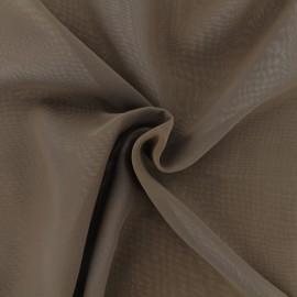 ♥ Coupon 220 cm X 150 cm ♥ Tissu mousseline crêpe - marron