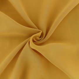 Crepe Muslin Fabric - mustard yellow x 50cm