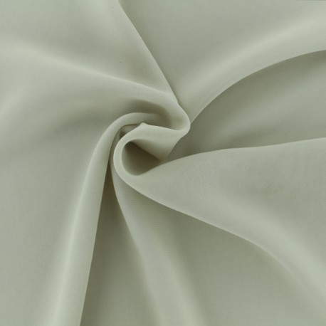 Tissu mousseline crêpe - beige x 50cm