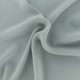 Crepe Muslin Fabric - pearly grey x 50cm