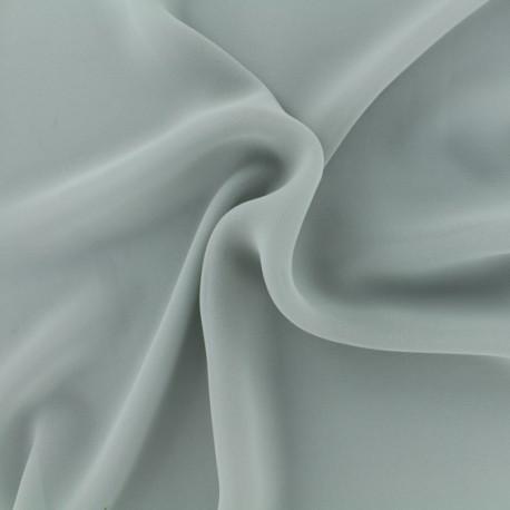 Tissu mousseline crêpe - gris perle x 50cm