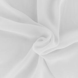 Tissu mousseline crêpe - Blanc x 50cm