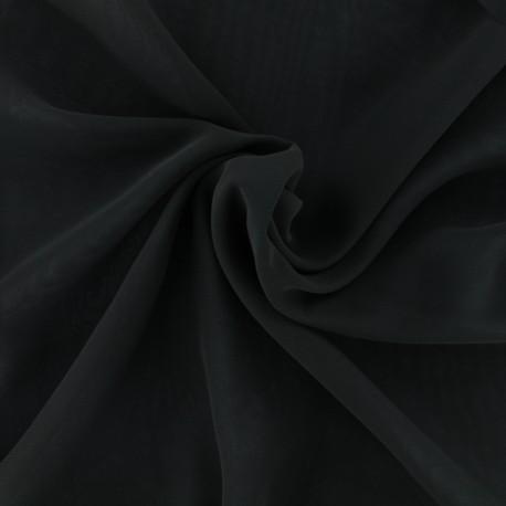 Tissu mousseline crêpe - noir x 50cm