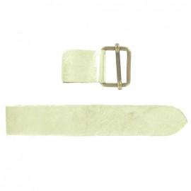 Leather strap with sliding bar adjuster buckle - metallic golden