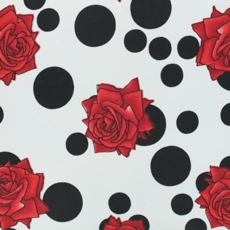Tissu crêpe polyester Beatriz - blanc x 50cm