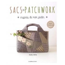 """Livre """"Sacs en patchwork inspirés de mon jardin"""""""