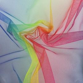 Tissu tulle Arc en ciel - multicolore x 10cm