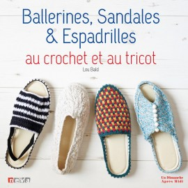 """Livre """"Ballerines, sandales & espadrilles au crochet et au tricot"""""""