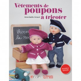 "Book ""Vêtements de poupons à tricoter"""