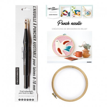 Kit Punch Needle - Création de Broderie en Relief