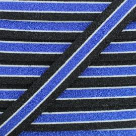 Ruban Élastique Lurex Abby 20 mm - Bleu x 1m