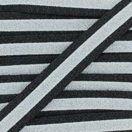 Ruban Élastique Lurex Abby 20 mm - Argent x 1m