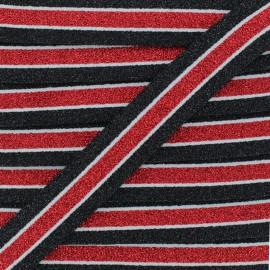 Ruban Élastique Lurex Abby 20 mm - Rouge x 1m