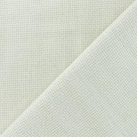 Tissu Toile à Broder Punch Needle - Crème x10cm