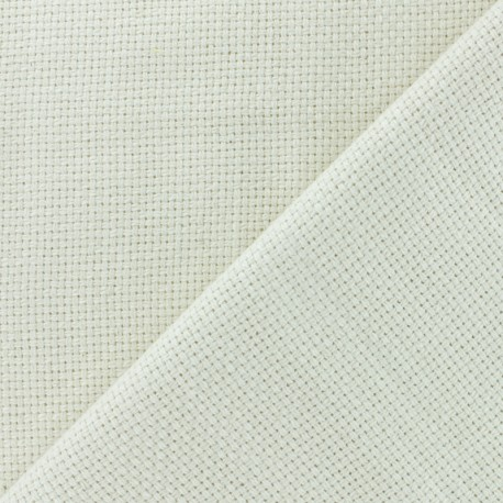 Embroidery Canvas Fabric for Punch Needle - Cream x 10cm