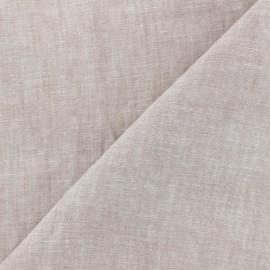 Tissu chambray 100% lin - vieux rose x 10cm