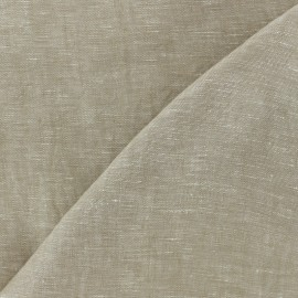 100% linen Chambray fabric - natural x 10cm