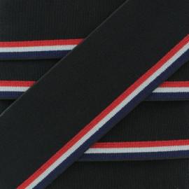 44 mm Belt Elastic Ribbon - Grey Slip Français x 1m