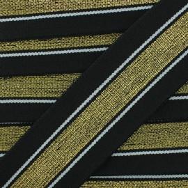 40 mm Belt Elastic Ribbon - Black/Gold Just Dance x 1m