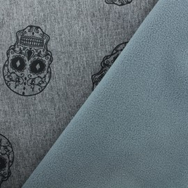 Softshell fabric – Grey Calavera x 10cm