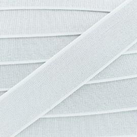 Ruban Élastique Shine Glam' 40 mm - Blanc x 1m