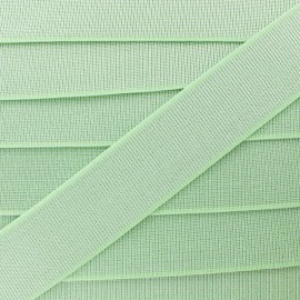 40 mm Belt Elastic Ribbon - Light Green Shine Glam' x 1m
