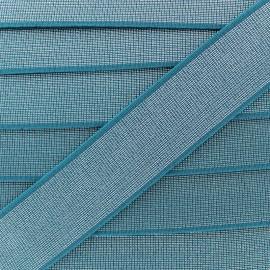 Ruban Élastique Shine Glam' 40 mm - Bleu Canard x 1m