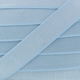 40 mm Belt Elastic Ribbon - Sky Blue Shine Glam' x 1m