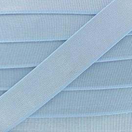 Ruban Élastique Shine Glam' 40 mm - Bleu Ciel x 1m
