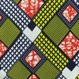 Tissu Wax Kilumi - jaune x 10cm